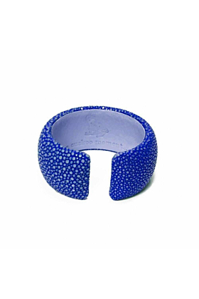 Samba Royal Blue Stingray Leather Bangle