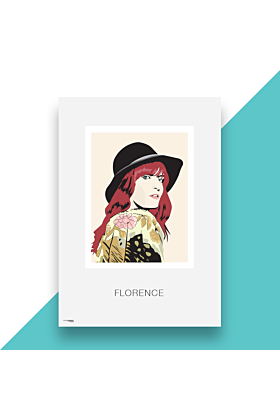 Florence and The Machine Hand and Digitally Drawn Poster