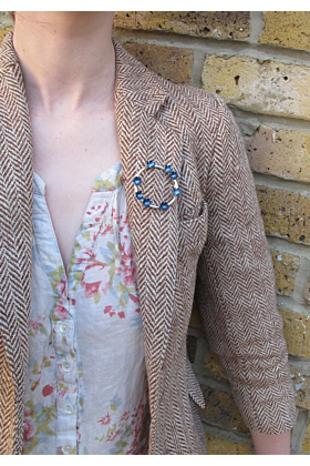 Sterling Silver Forget Me Not Brooch