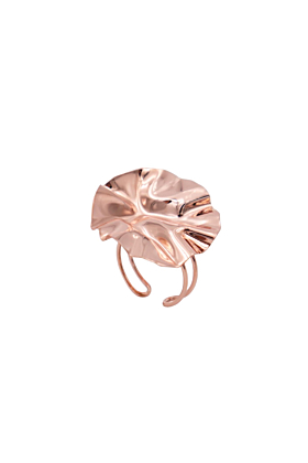 Rose Gold Plated Fold Ring