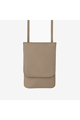 Belt bag taupe worn on the hips