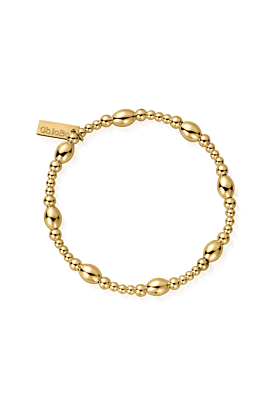 Gold Plated Cute Oval Bracelet