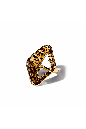 14kt Yellow Gold Plated Earth Ring