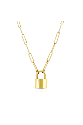 18kt Gold Plated Padlock Necklace