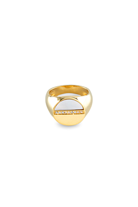 18kt Gold Plated Silver Upside-Down Ring