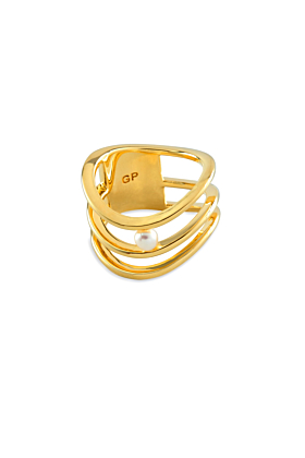 18kt Gold Plated Silver Forever Ring