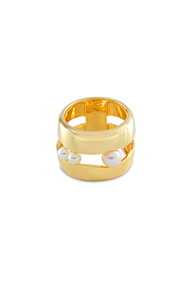 18kt Gold Plated Silver In-Between Ring
