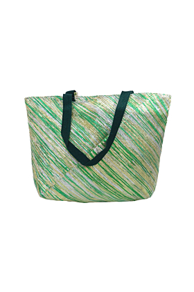 Green & Golden Beach Bag