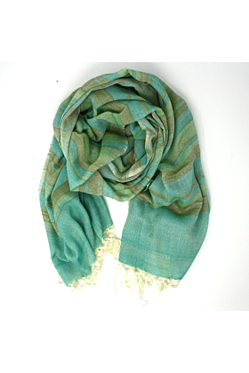Fusion Green Unisex Cotton Scarf