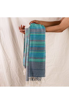 Blue Fusion Cotton Scarf