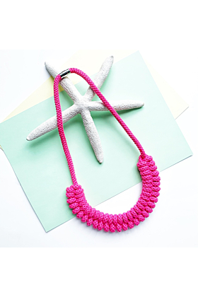 Cotton Colour Block Rope Necklace | The Maya Necklace