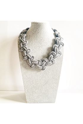 Cotton Rope Knotted Necklace | The Lily Necklace