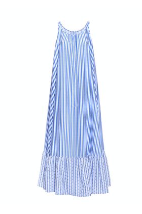 Bettina Blue Striped Dress