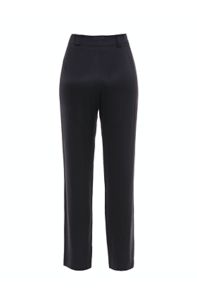 Brigitte Black High-Waisted Trousers
