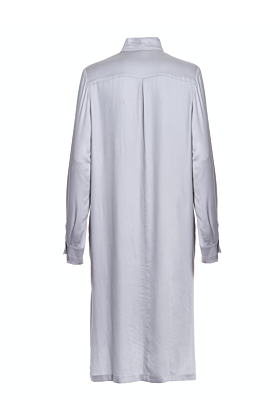 Britta Grey Straight-Cut Shirt Dress