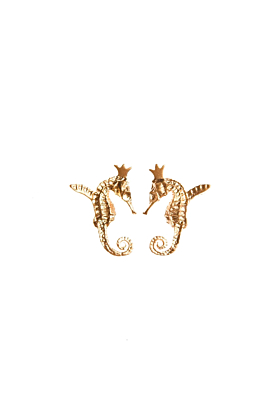 Gold Plated Hippocamp Earrings