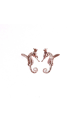 Rose Gold Plated Hippocamp Earrings