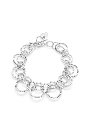 Sterling Silver Harmony Double Circles Bracelet