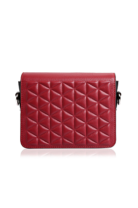 Red Leather Nou Belt Bag