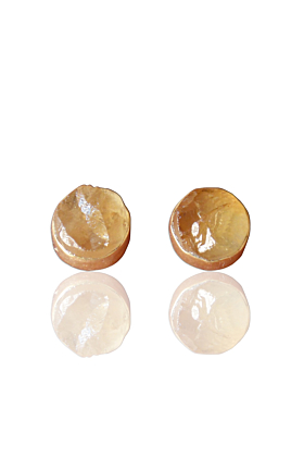 22kt Yellow Gold Plated Citrine Small Stud Earrings