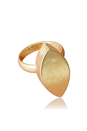 High Fashion 18K Gold Plated Marquise Shape Adults Ring