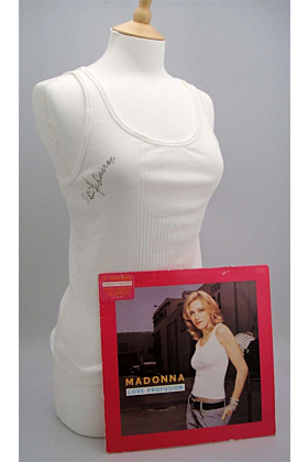 Madonna Autographed & Worn Love Profusion Tank Top