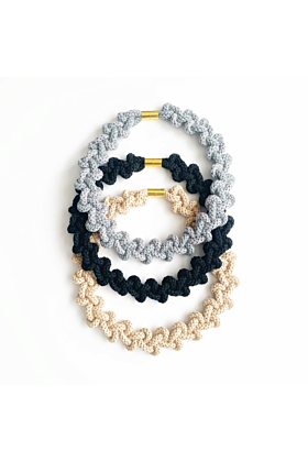 Cotton Colour Block Necklace - Chunky Lily Necklace