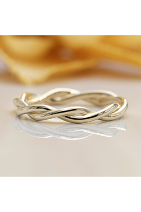 14kt Gold Twisted Infinity Wedding Band