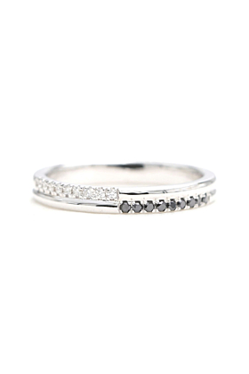 14kt Gold Halfway Diamond Wedding Band
