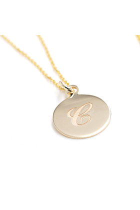 14kt Gold Personalized Initial Necklace