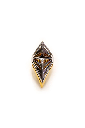 14kt Yellow Gold Plated Bottom Top Armor Ring
