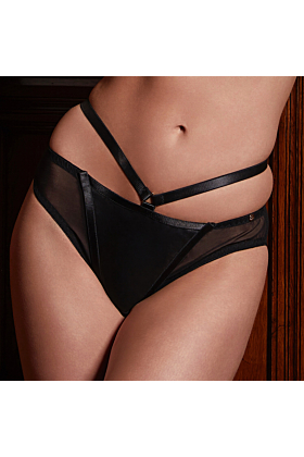 Leather Mia Ouvert Brief with Open Back