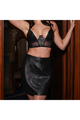 Real Leather Mia Skirt