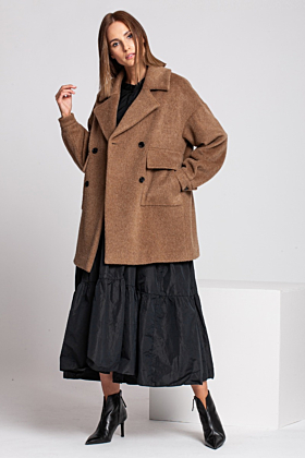 Wool Coat Gentle In Camel