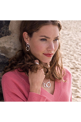 Sterling Silver Together Earrings