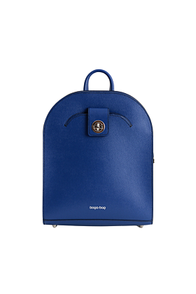 Electric Blue Leather Backpack For Women