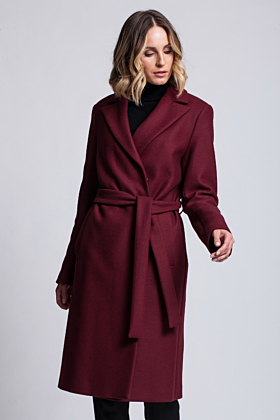 Wool Coat Confidence Bordeaux