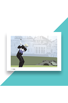 Jack Nicklaus Hand and Digitally Drawn Poster
