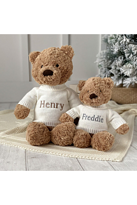 Personalised Jellycat Bumbly Bear Medium Teddy Soft Toy