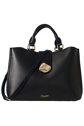 Ava Black Multi-Compartment Tote Bag