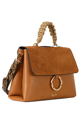India Tan Rope Handle Crossbody Bag