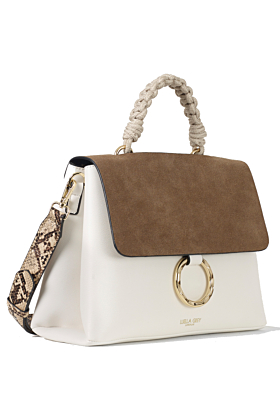 India White Rope Handle Crossbody Bag