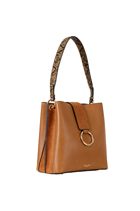 Martha Tan Bucket Tote Bag