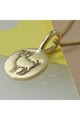 9kt Yellow Gold Aries Charm Necklace
