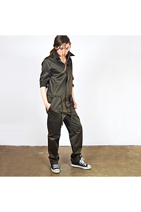 Green Shiny Cotton 'Steyr' Jumpsuit