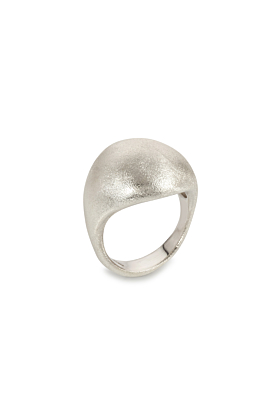 Sterling Silver Frosted Dome Ring