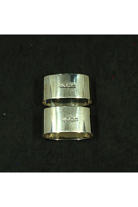 Carrs Of Sheffield Silver Napkin Rings