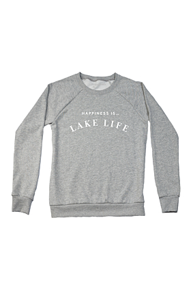 Happiness is...Lake Life in Heather Grey