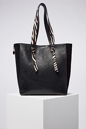 Astrid Black Multifunctional Shopper With Detachable Clutch