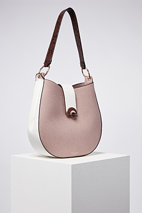 Beatrice Mink Hobo Bucket Bag